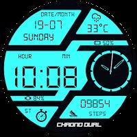 Chrono Dual Watch Face & Clock Live Wallpaper