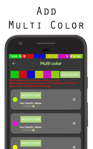 Color status bar - Customized Color & Wallpaper 47 screenshots 18