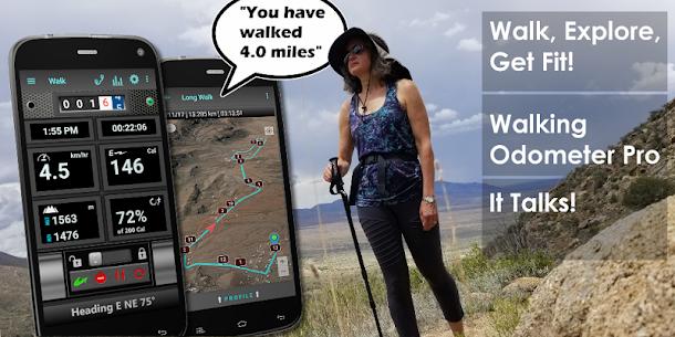 Walking Odometer Pro: GPS Fitness Pedometer (PREMIUM) 1.45 Apk 1