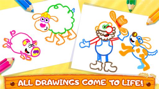 Old Macdonald had a farm ud83dude9c Drawing games for kids  Screenshots 4