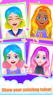 Hair Salon - Paint Rainbow Hair