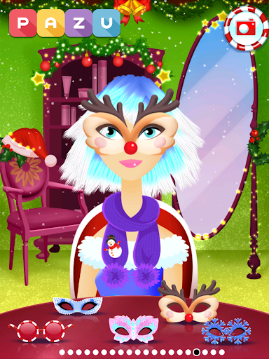Girls Hair Salon Christmas - Hairstyling for kids 1.03 screenshots 11