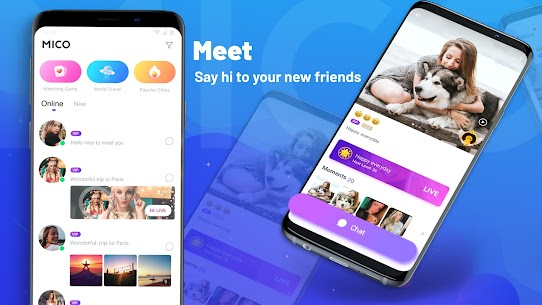 MICO: Make Friend, Private Live Chat & Live Stream MOD APK V6.2.5.9 – (Unlimited Coins) 1