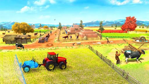 Farming Game 2021 - Free Tractor Driving Games screenshots 2