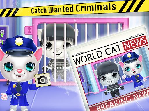 Kitty Cat Police Fun Care & Thief Arrest Game screenshots 3