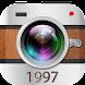 ビンテージカメラ-光漏れ、フォトエディター、レトロHD