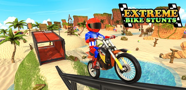 Beach Bike Stunts: Crazy Stunts and Racing Game 1