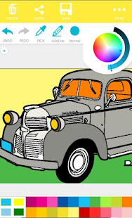 ColorFill - HotRod Cars Coloring Pages 1.4.0 screenshots 3