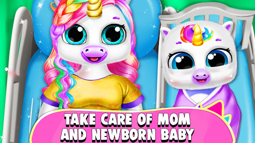 Pregnant Unicorn Mom And Baby Daycare 0.13 screenshots 1