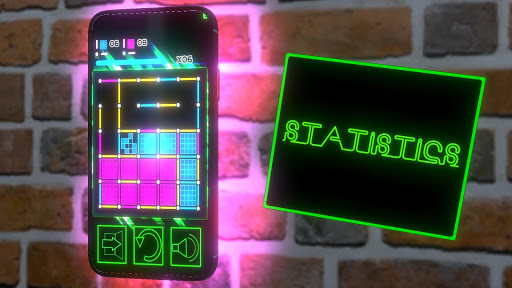 Dots and Boxes (Neon) 80s Style Cyber Game Squares apkdebit screenshots 3