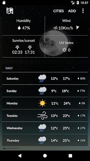 moldova weather screenshot 2