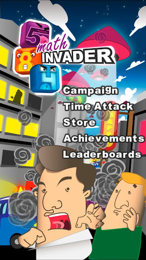math invaders screenshot 1