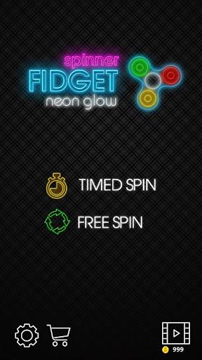 fidget spinner neon glow joke game screenshot 1