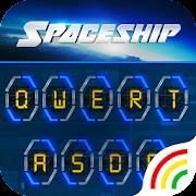 Neon Spaceship Keyboard Theme