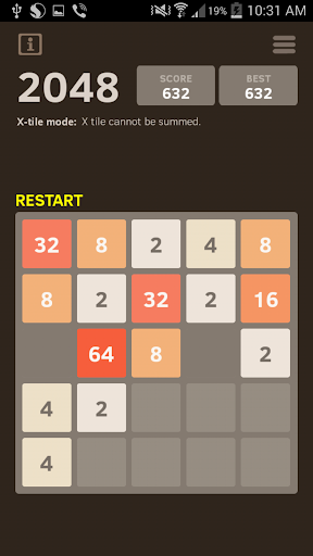 2048 Number puzzle game screenshots 2