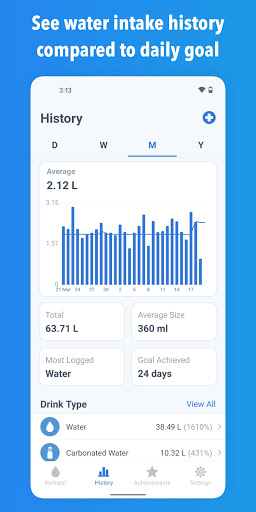 WaterMinder - Water Tracker and Drink Reminder App  screenshots 2