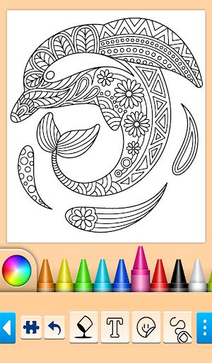 Dolphin and fish coloring book 16.3.2 screenshots 9