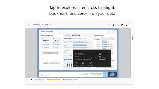 Microsoft Power BIu2013Business data analytics apktram screenshots 13