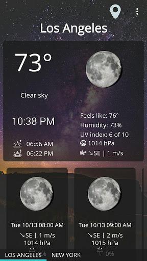 Weather forecast & transparent clock widget  Screenshots 1