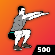 500 Squats - Strong Legs, Home Workout