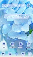 Flower Wallpaper Blue Hydrangea Theme