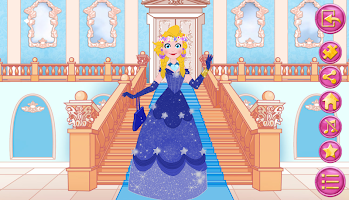 Queen dress up in frozen land