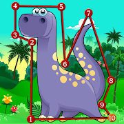 Dinosaur Kids Connect the Dots ❤️