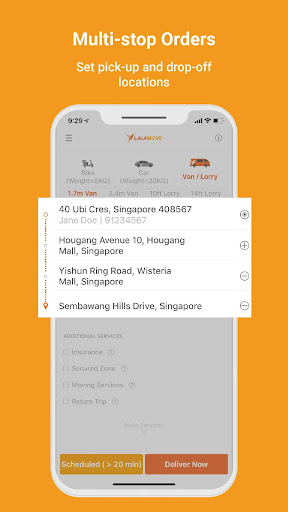 Lalamove - 24/7 On-Demand Delivery App 103.5.1 Screenshots 4