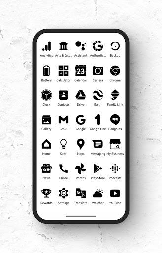 Download APK: Zwart – Black Icon Pack v21.6.0