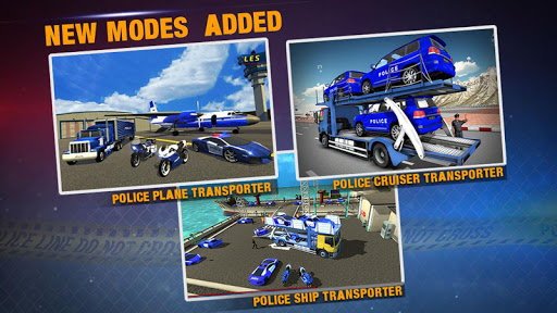 Police Plane Transporter Game  screenshots 3