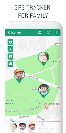 Family GPS tracker KidsControl  Screenshots 1