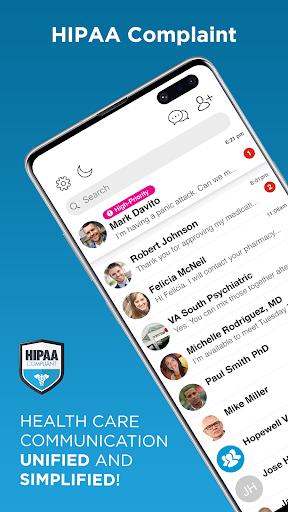 linkmind - hipaa messaging & telehealth app screenshot 1