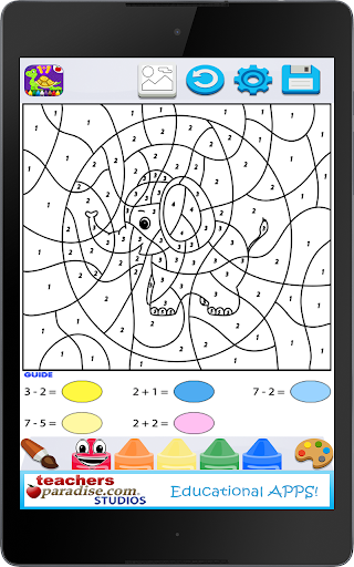 Kids Math Paint by Number Game 2 screenshots 11