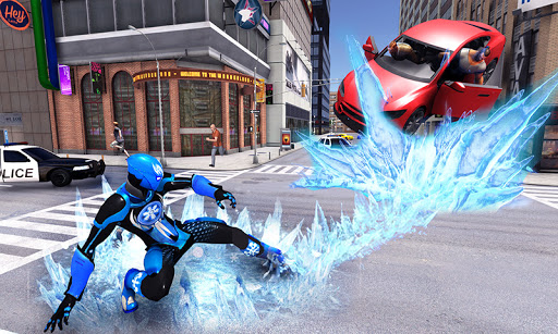 Snow Storm Super Human: Flying Ice Superhero War apkmartins screenshots 1