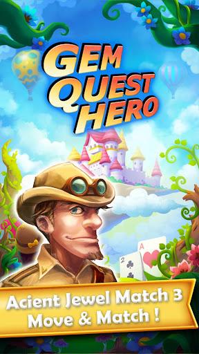 Gem Quest Hero 2 - Jewel Games Quest Match 3 android2mod screenshots 10