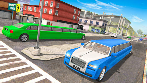 Limousine Taxi Driving Game android2mod screenshots 5