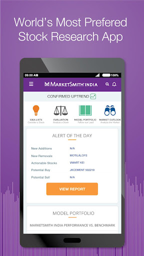 MarketSmith India - Stock Research & Analysis android2mod screenshots 1