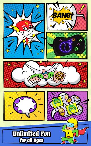 Superhero Coloring Book Game & Comics Drawing book  screenshots 2