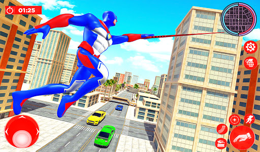 Flying Police Robot Rope Hero: Gangster Crime City  screenshots 13