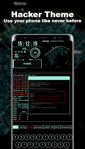 Hacker Theme - Aris Launcher  screenshots 1