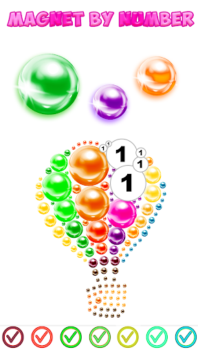 Magnetic Balls Color By Number - Magnet Bubbles android2mod screenshots 9