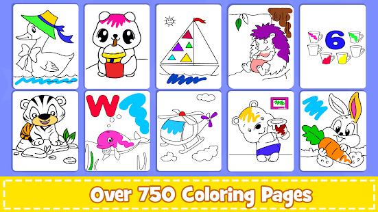 Coloring Games : PreSchool Coloring Book for kids screenshots 9