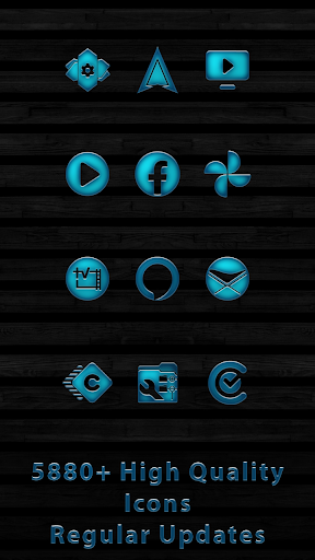 Rusted Aqua Blue Icons