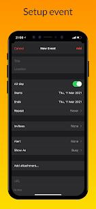 iCalendar MOD APK- Calendar iOS style [Pro Unlocked] 3