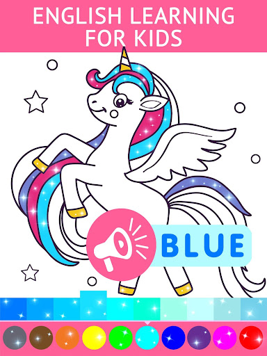 Animated Glitter Coloring Book - My Little Unicorn 10.2 screenshots 9