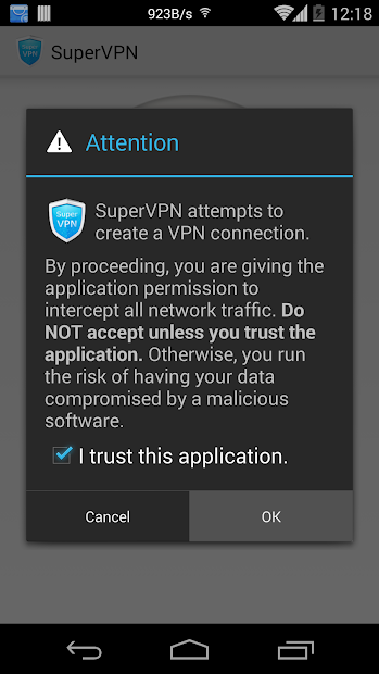 SuperVPN Free VPN Client screenshot 1