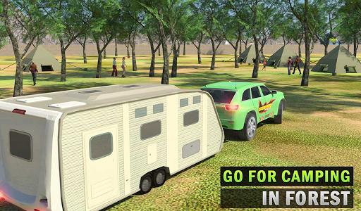 Camper Van Truck Simulator: Cruiser Car Trailer 3D screenshots 13