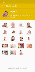 Funny baby faces stickers WAStickerApps