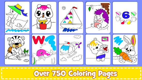 Coloring Games : PreSchool Coloring Book for kids screenshots 17