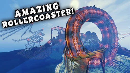 maps for minecraft pe roller coaster screenshot 1